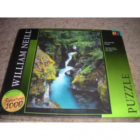 William Neill Avalanche Creek, Glacier National Park Montana 1000 Piece Jigsaw Puzzle