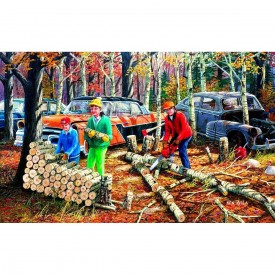 Fall Chores 300 pc Jigsaw Puzzle by SunsOut