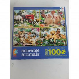Ceaco Kids 4-in-1 Adorable Animals Jigsaw Puzzle
