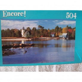 Encore 500 Piece Puzzle Bete Grise Lighthouses