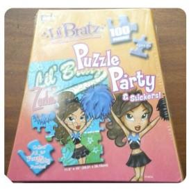 """Lil Bratz 100 Piece Puzzle Party & Stickers """"Zada"""""""