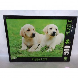 """500 Piece Puzzle """"Puppy Love"""" Difficulty Level 3"""