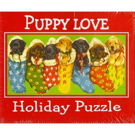 Puppy Love Holiday Puzzle - 1000 Piece Jigsaw Puzzle