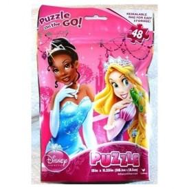 Disney Princess Puzzle on The Go! 48 Large Pieces