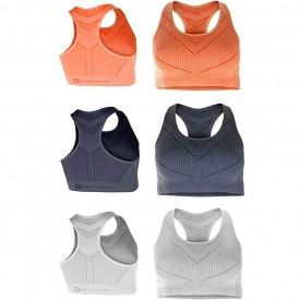 Crivit New Fitness Ladies Pack of 1 Gym Yoga Running Sports Bra Natural Evolution Size Medium 42/44 (Blue)
