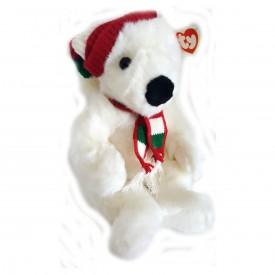 TY Classic Plush Beanie Buddy 1997 HOLIDAY BEAR the Bear