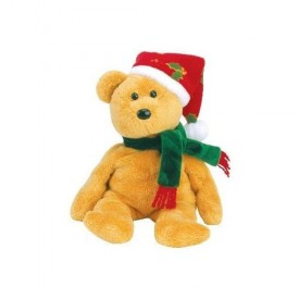 TY 2003 Holiday Teddy Beanie Baby by TY XMAS BEANIES
