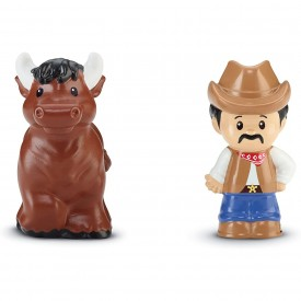 Fisher-Price Little People Cowboy & Bull