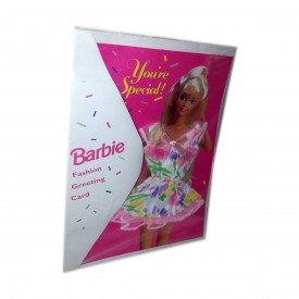 Youre Special Barbie Doll Fashion Greeting Card with Real Clothes - Pastel Print with Pink Trim (1994)