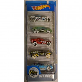 Hot Wheels Compatible 5 Gift Pack Set Snow Stormers DJD21 1:64 Scale Collectible Die Cast Model Car