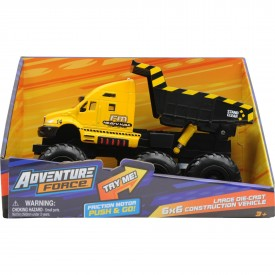 Adventure Force Large Die-Cast 6x6 Construction Vehicle Dump Truck With Friction Motor Push & Go