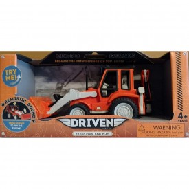 Backhoe Loader Construction Vehicle Toy Car Lights Sounds Micro Series Battat