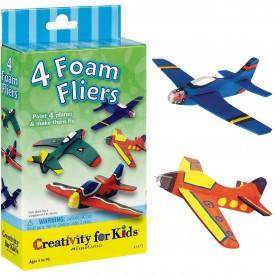 Creativity for Kids Four Foam Fliers Mini Craft Kit - Paint 4 Foam Airplanes
