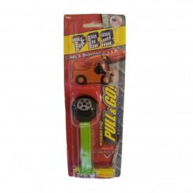 PEZ Candy Dispenser Disney Pixar Cars 2 Pull & Go Magnetic Detachable Car - Tow Mater