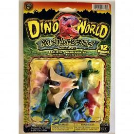JARU, Inc DINO WORLD Miniatures, Realistic, Hand Painted, 12 Pieces