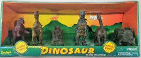 Dino Safari Dinosaur Playset Set of 3 Pterodactyl, Stegosaurus, T-Rex