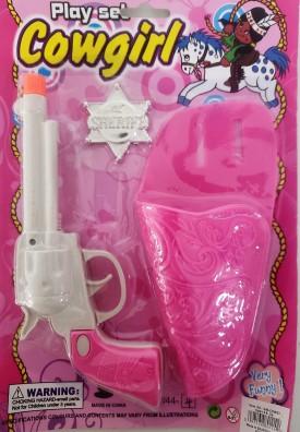 Pink Cowgirl Playset Gun w/ Holster & Badge
