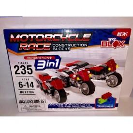 CK Brands TOP BLOX Motorcycle Race Construction Blocks Set 235 Pieces No 77784