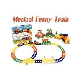 Musical Funny Animal Train Set
