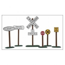 Life Like Trains G Scale Rail & Road Signs Set of 6
