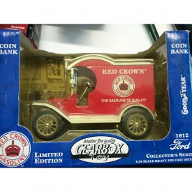 Gearbox 1912 Red Crown Gasoline Coin Bank Ford Delivery Truck 1/24 Scale
