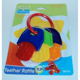 Sesame Street Beginnings Teether Rattle Keys Infants 0-18 Months