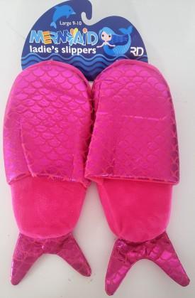 Mermaid Women's Pink Slippers Large 9-10