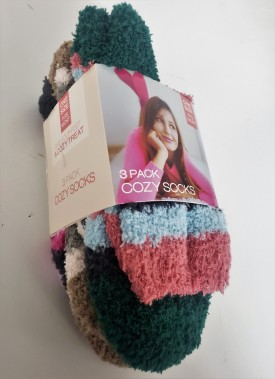 Cozy Socks 3-Pack Women's Super Soft One Size Fits All