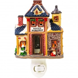 Santa's Workshop Porcelain Night Light