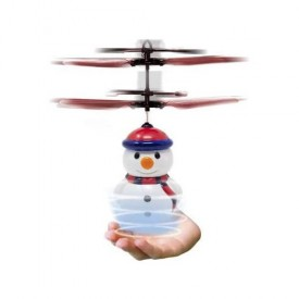 Skyline Blue Sky Hand Control Space Flyer Snowman Holiday Flyers Toy Robot Heli Ball