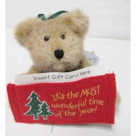 Boyds Thinkin' of Ya Series Jingle Gift Card Ornament Plush 903618