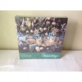 """Springbok Puzzle """"Christmas Kittens"""" 1000 Piece XZL6162"""