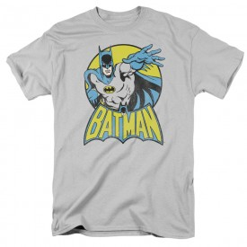 DC Comics Batman Short Sleeve Graphic T-shirt Adult Size Medium Grey