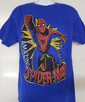Marvel Amazing Spider-man Graphic Short Sleeve T-shirt Adult Size M Blue