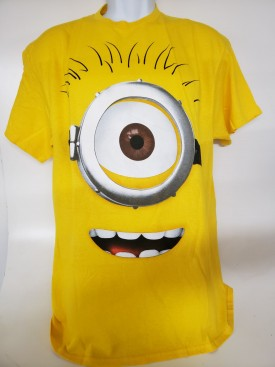 Despicable Me Graphic Short Sleeve T-shirt Adult Size Large Yellow