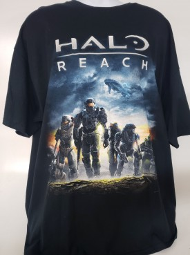 Halo Reach Short Sleeve Graphic T-shirt Adult Size 2XL Navy Blue