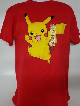 Pokémon Pikachu Graphic Short Sleeve T-shirt Adult Size Medium Red