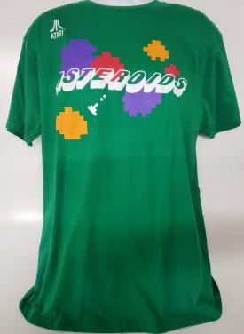 Atari Asteroids Graphic Short Sleeve T-shirt Adult Size XL Green