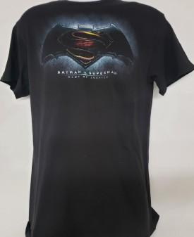 Batman v Superman Dawn of Justice Short Sleeve Graphic T-shirt Adult Size Small Black
