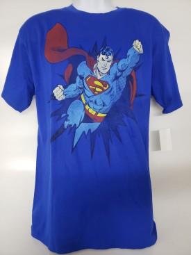 DC Comics Originals Superman Graphic Short Sleeve T-shirt Adult Size Large Blue