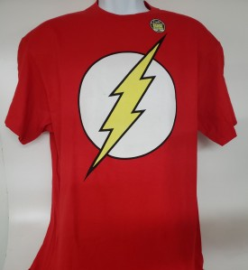 DC Comics Originals Flash Glow In The Dark Graphic T-shirt Adult Size Large Red