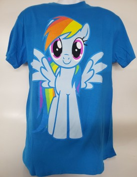 My Little Pony Rainbow Dash Short Sleeve T-Shirt Adult Size Medium Blue