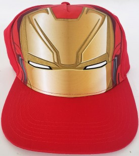 Marvel Iron Man Adjustable Adult Baseball Cap Hat Snapback Flat Bill Red