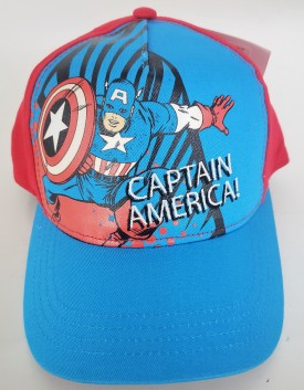 Captain America Adjustable Adult Baseball Cap Hat Snapback Curved Bill Blue
