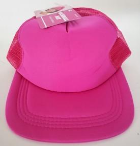 Women's' Hot Pink Baseball Cap Adjustable Snapback Flat Bill OSFM