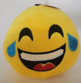 "Nanco Smiley Face Plush Emoji Laugh Till You Cry 6"" Yellow"