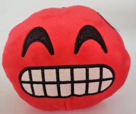 "Nanco Smiley Face Plush Emoji Teeth 6"" Red"
