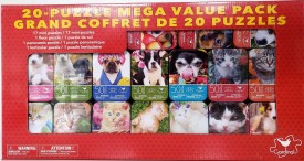 Cardinal 20-Puzzle Mega Value Pack Dogs Cats Puppy's Kittens Super Cute