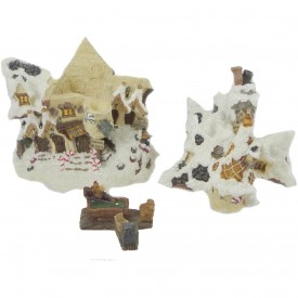 Boyds Bearly-Built Villages- Boyds Town - Kringle's Village - Hoofer Hall Reindeer Dormitory