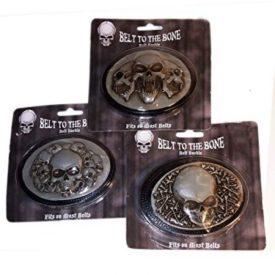 Belt To The Bone Skulls Belt Buckle Bundle Set of 3